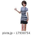 ハサミを持つ女性美容師 perming 3DCGイラスト素材 17938754