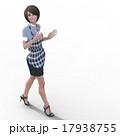 ハサミを持つ女性美容師 perming 3DCGイラスト素材 17938755