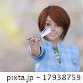 ハサミを持つ女性美容師 perming 3DCGイラスト素材 17938759