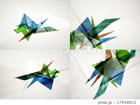 Set of angle and straight lines design abstractのイラスト素材 [17938912] - PIXTA