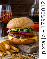 Delicious burger with chips and soda 17950012