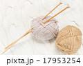 手編み 編み物 毛糸の写真 17953254