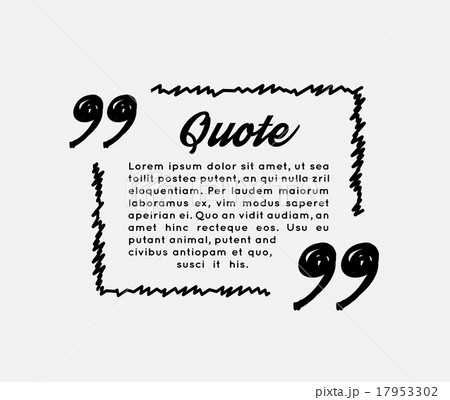 drawn quotes and a frameのイラスト素材 17953302 pixta