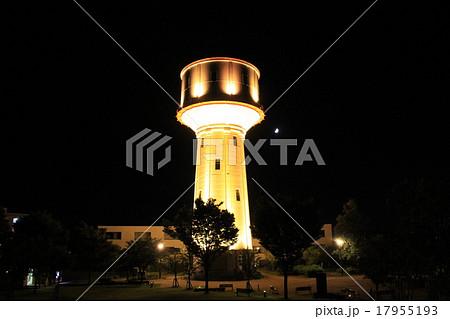 長岡市水道公園の配水塔(水道タンク)ライトアップ 1 17955193