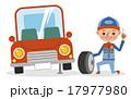 自動車整備士 整備士 車のイラスト 17977980