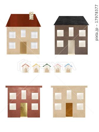 住宅と犬小屋のイラストセットのイラスト素材 [17978377] - PIXTA