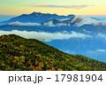 蝶ヶ岳から朝の乗鞍岳と霞沢岳 17981904