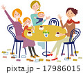 カフェでおしゃべりする女性達02 17986015