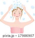シャンプー 女性 洗髪のイラスト 17986907