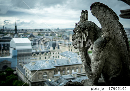 パリノートルダム大聖堂のガーゴイル 17996142