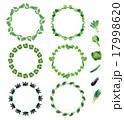 野菜フレーム(丸・カブ、小松菜、キャベツ、キュウリ、ナス、ネギ) 17998620