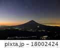 御坂山地・雪頭ヶ岳から夜明けの富士山 18002424