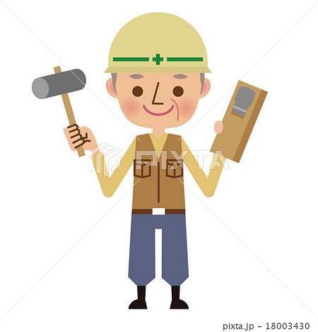 シニア世代の大工職人 18003430