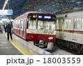 京浜急行、雪の夜 18003559