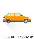 車 自動車 ハッチバックのイラスト 18004836