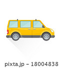 vector flat van car body style illustration icon. 18004838