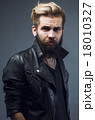 young attractive bearded hipster man gesturing 18010327