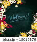 Vector illustration of Floral Welcome board 18010376
