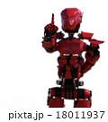 ワンポイントするロボット perming3DCGイラスト素材 18011937