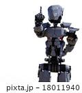 ワンポイントするロボット perming3DCGイラスト素材 18011940