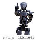 ワンポイントするロボット perming3DCGイラスト素材 18011941