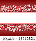 Sweet banner with red and white candies.  18012321