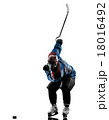 Ice hockey man player silhouette 18016492