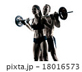 body buiding couple isolated 18016573