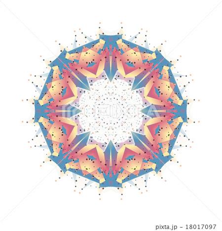 Round vector shape, molecular construction withのイラスト素材 [18017097] - PIXTA