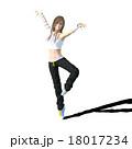 ダンスする女性 perming3DCGイラスト素材 18017234