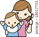 赤ちゃんの歯磨きをするママ1 18017733