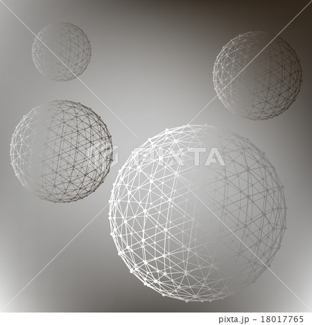 Abstract  Mesh polygonal background. Scope ofのイラスト素材 [18017765] - PIXTA