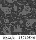 ゴースト 模様  Halloween ghost seamless pattern 18019540