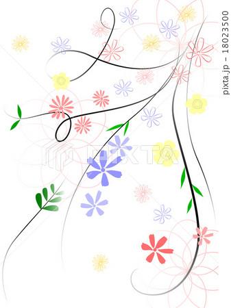 花 花柄 デザイン 背景のイラスト素材 18023500 Pixta