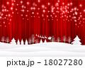 クリスマス 雪 サンタクロースのイラスト 18027280