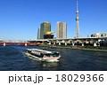 隅田川 東京スカイツリー 遊覧船の写真 18029366