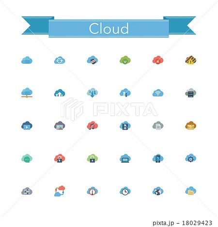 Cloud Flat Icons 18029423
