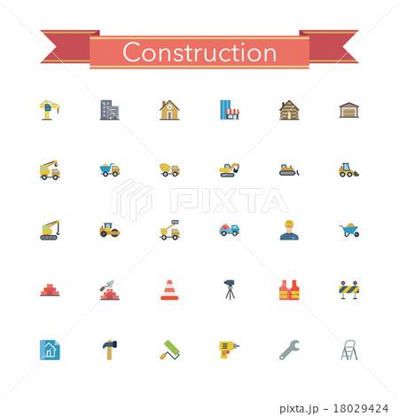 Construction Flat Icons 18029424