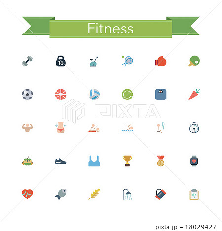 Fitness Flat Icons 18029427