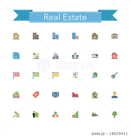 Real Estate Flat Icons 18029431