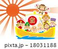 宝船 七福神 新春のイラスト 18031188