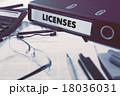 免許 リングバインダー オフィス用品のイラスト 18036031