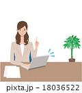 ビジネスウーマン 女性 案内のイラスト 18036522