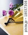 扇子 扇 年賀状素材の写真 18037308