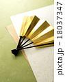 扇子 扇 年賀状素材の写真 18037347