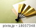 扇子 扇 年賀状素材の写真 18037348