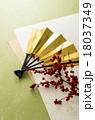 扇子 扇 年賀状素材の写真 18037349