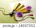 扇子 扇 年賀状素材の写真 18037352