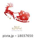 サンタクロース クリスマス トナカイのイラスト 18037650