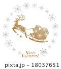 サンタクロース クリスマス トナカイのイラスト 18037651